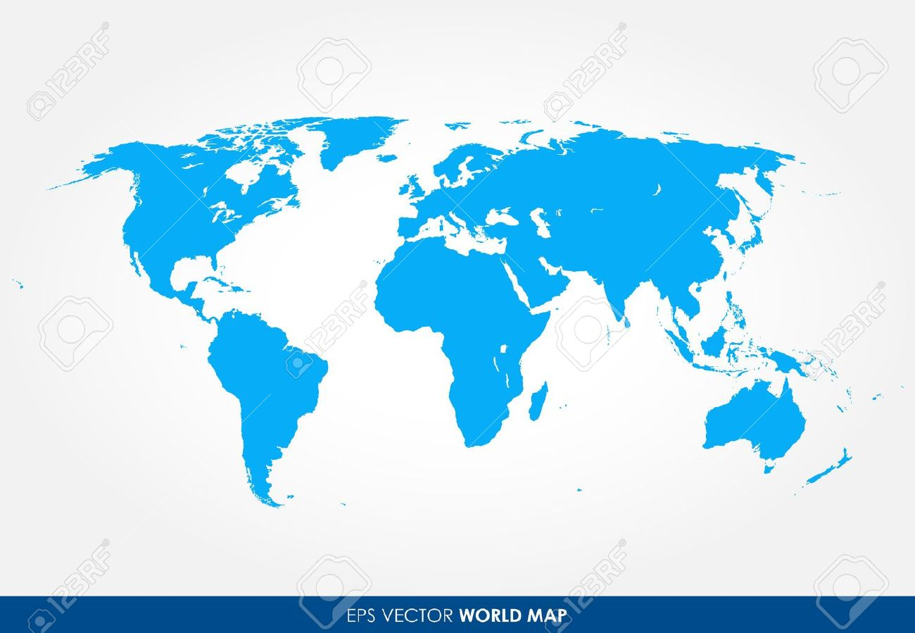 Precise World Map Vector Royalty Free Cliparts Vectors And - Flat globe map