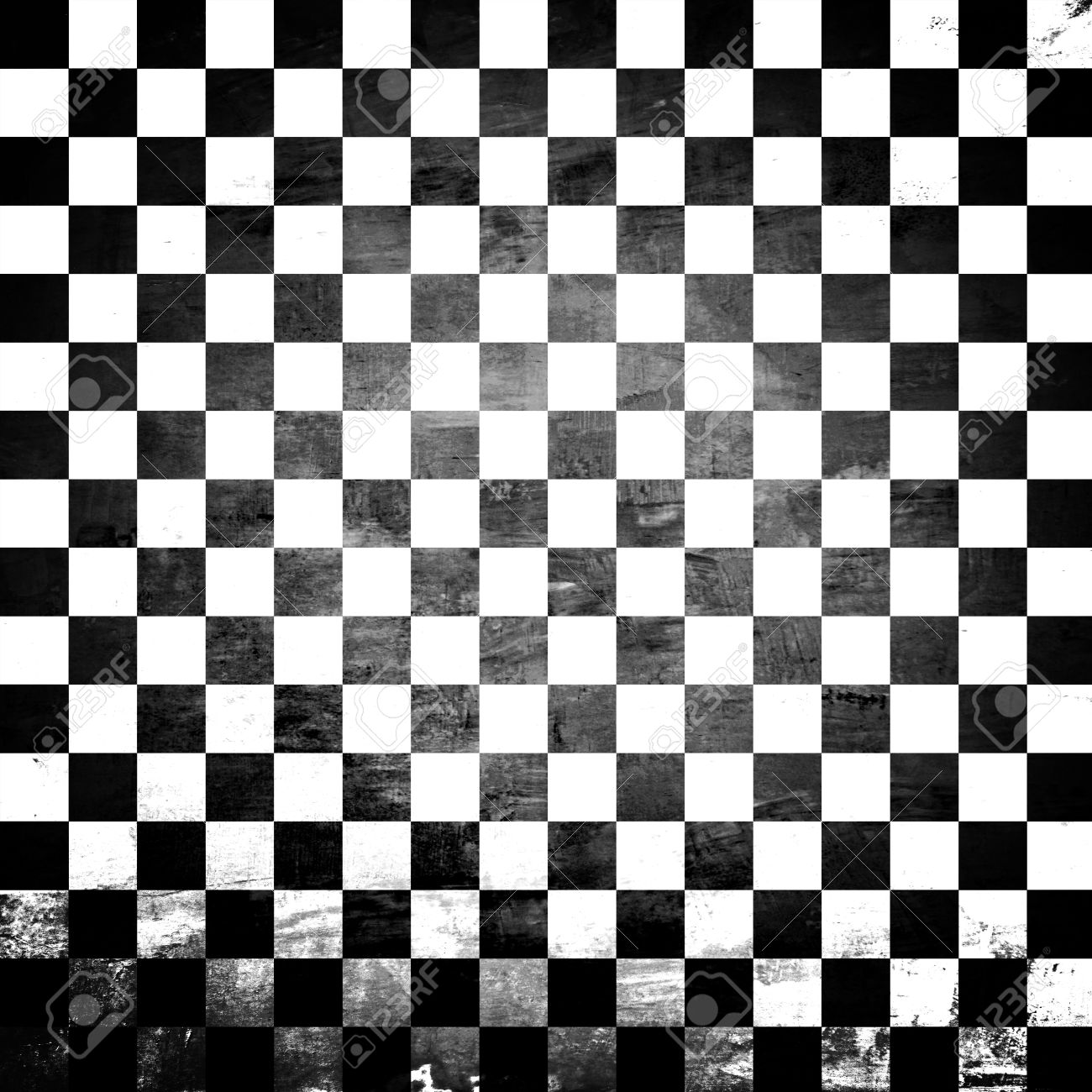 Grunge abstract black   white checkered background Stock Photo - 20645853