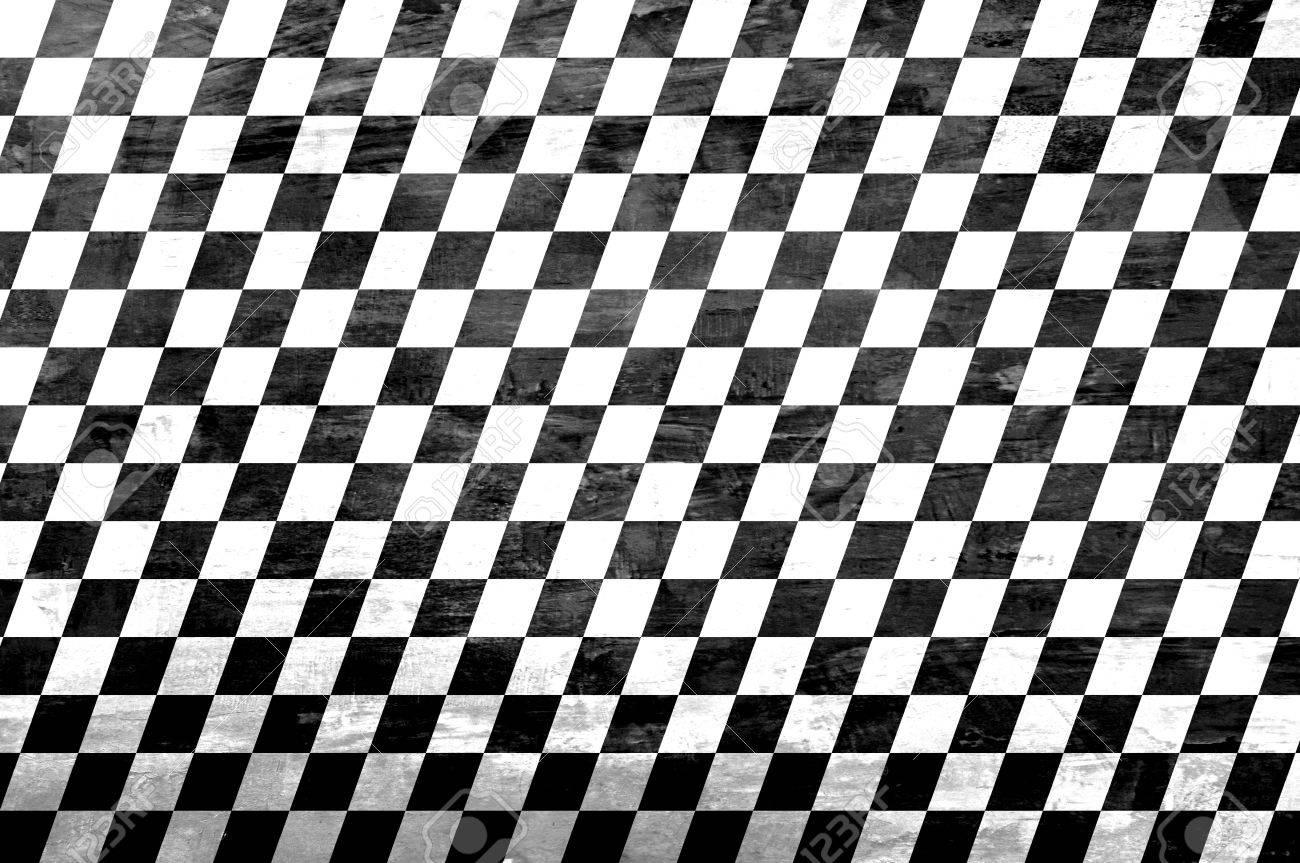 Retro style black & white checkered background Stock Photo - 20645870