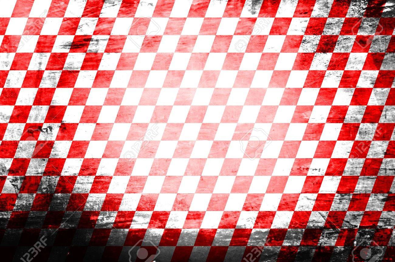 Grunge abstract red   white checkered background Stock Photo - 21012753