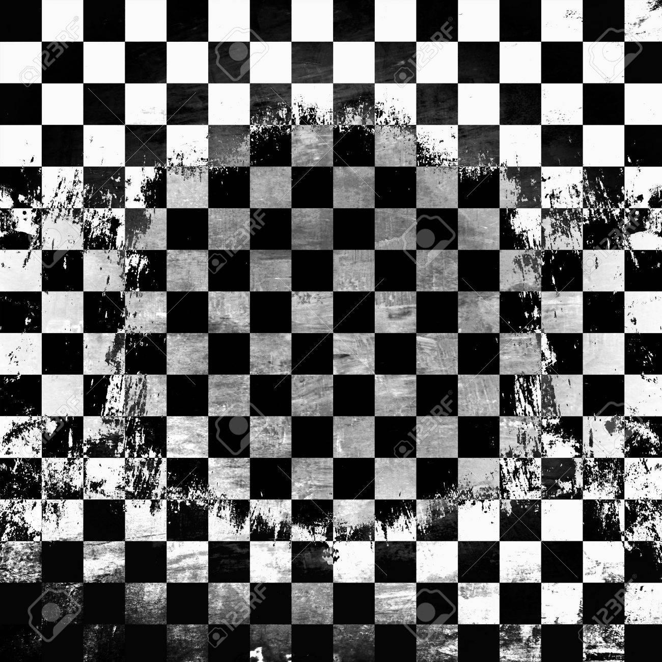 Retro style black   white checkered background Stock Photo - 21012796