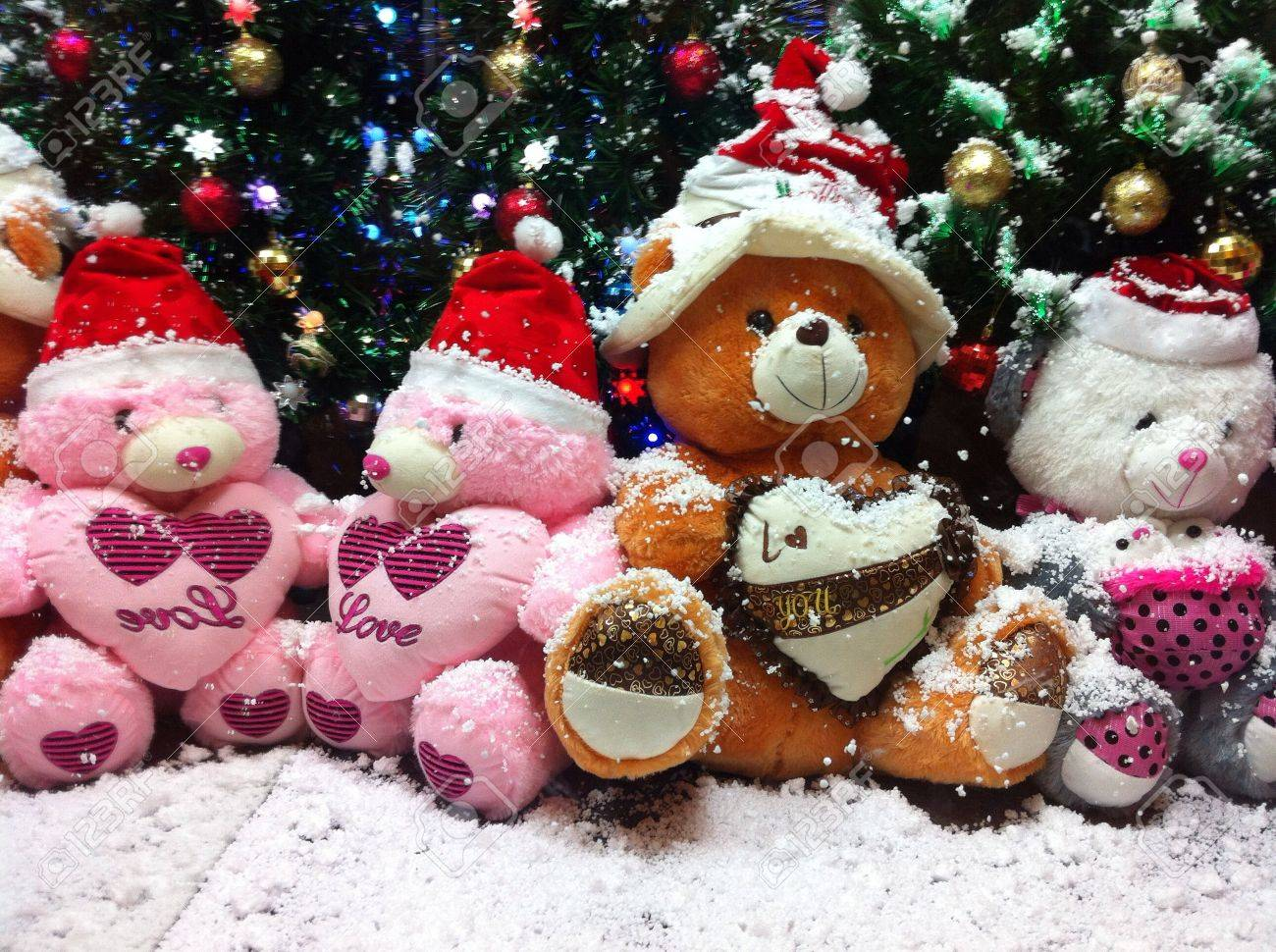 Dolls Under Christmas Tree Stock Photo, Picture And Royalty Free ...