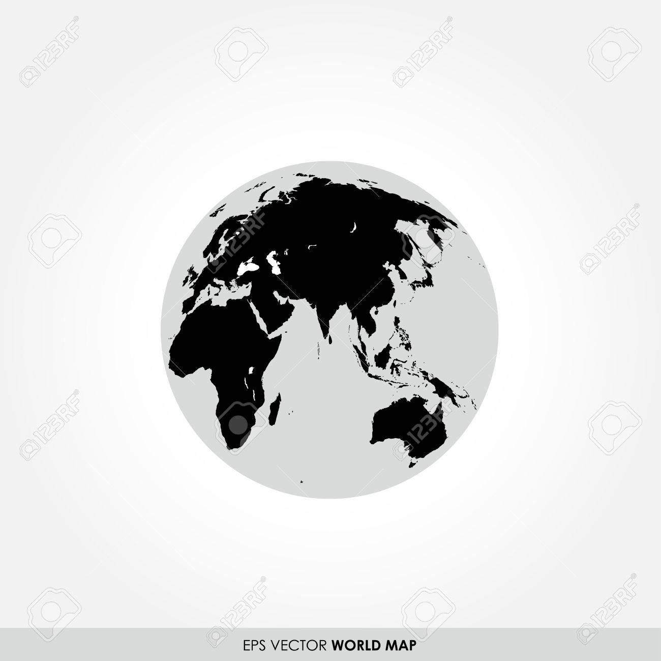 Black world map on globe icon royalty free cliparts vectors and black world map on globe icon stock vector 26848385 gumiabroncs Gallery