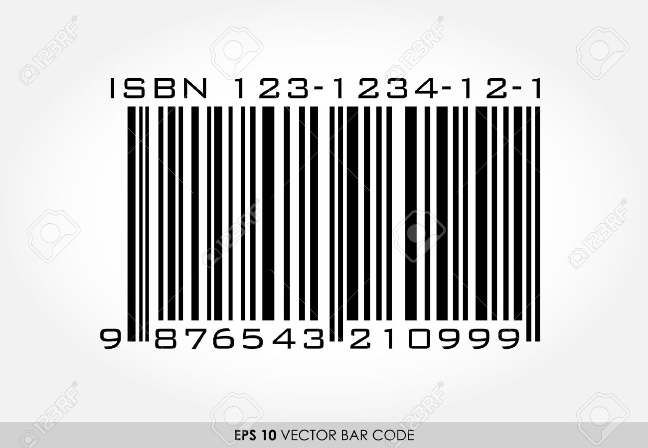 isbn barcode for books on white background royalty free cliparts