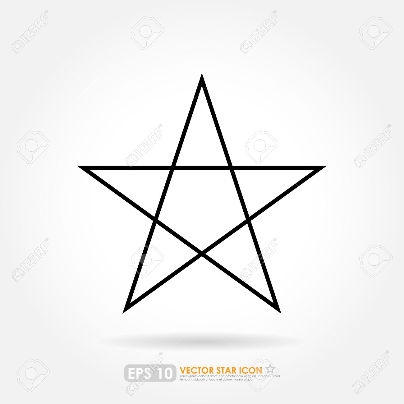 Simple star outline vector icon stock photo picture and royalty simple star outline vector icon stock photo 28162405 sciox Images