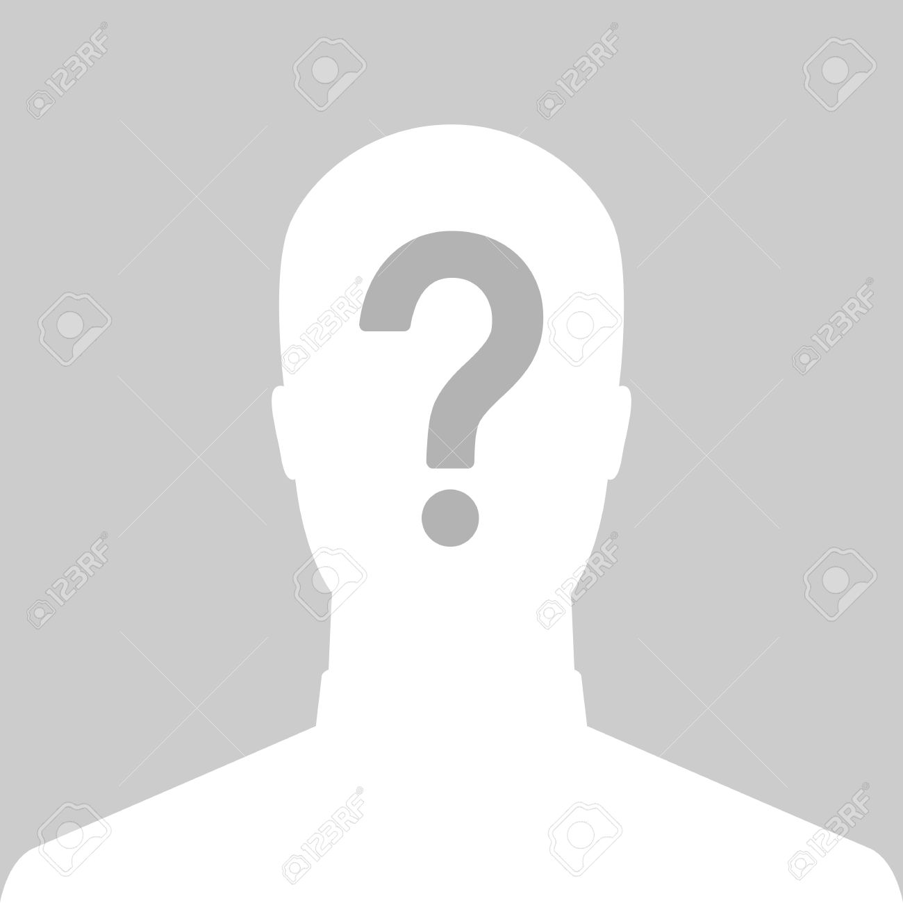 Man Silhouette Icon With Question Mark Sign - Anonymous & Suspect ...