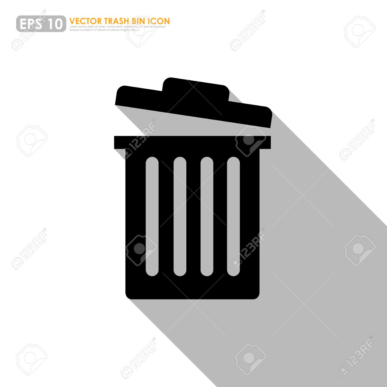 Trash Bin Or Delete Icon On White Background Royalty Free Cliparts ...