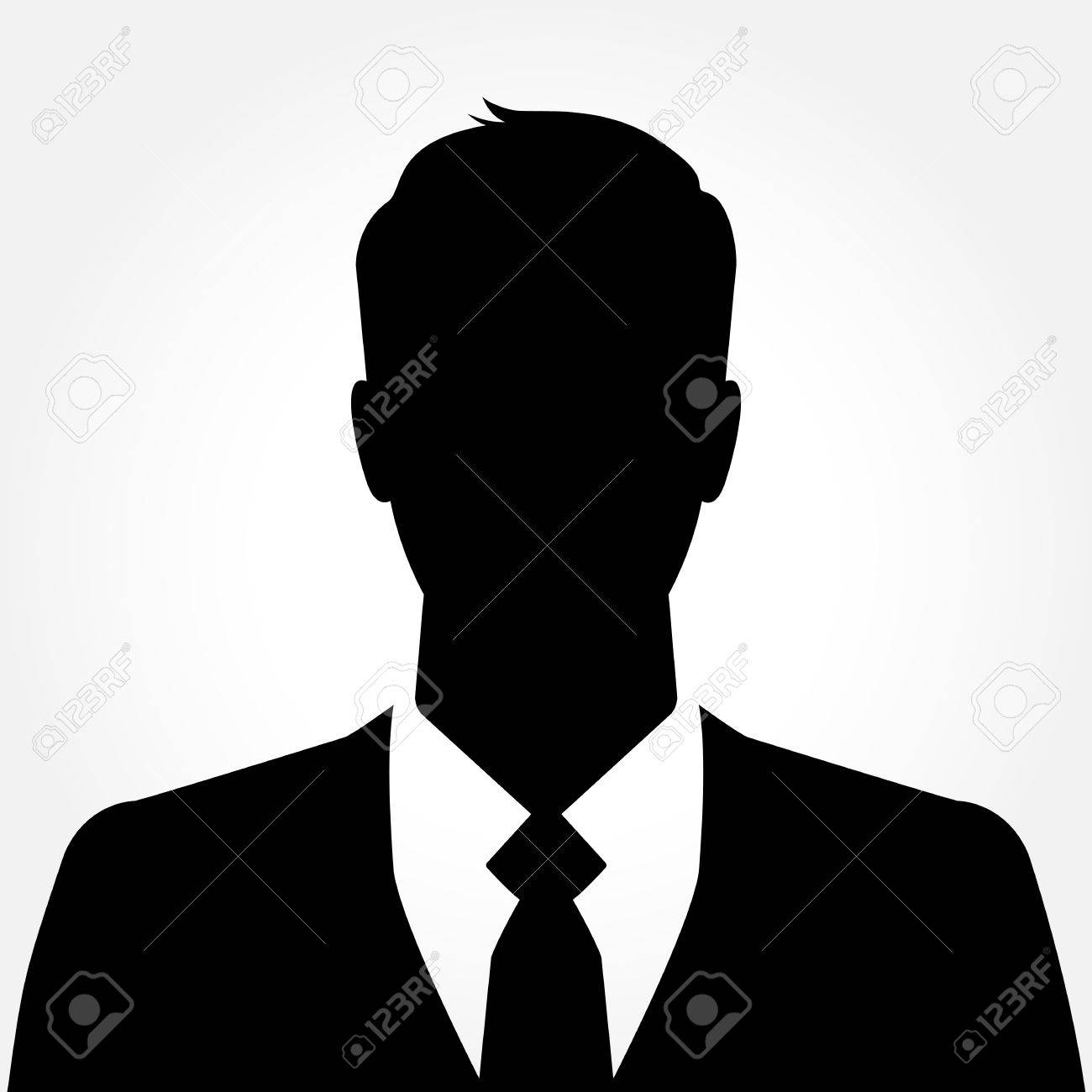 businessman silhouette avatar profile picture royalty free cliparts