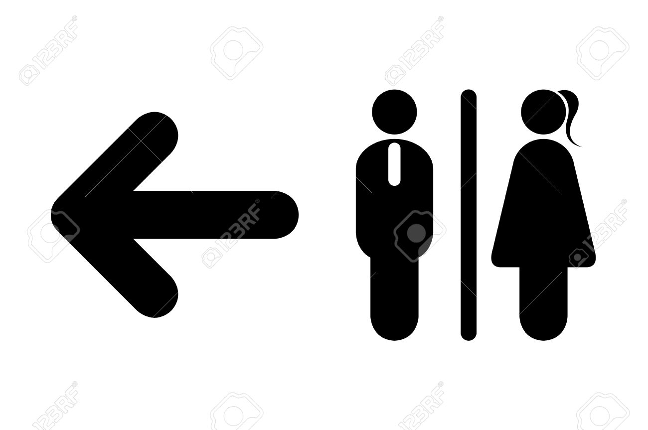 Toilet icon male female symbols with arrow sign on white toilet icon male female symbols with arrow sign on white background stock vector buycottarizona