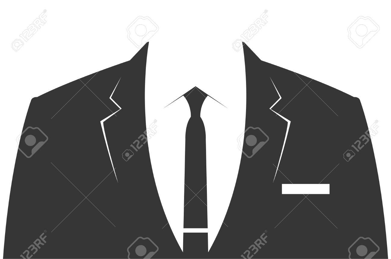 スーツ 男性用グレイの背広 ベクトル テンプレートのイラスト素材