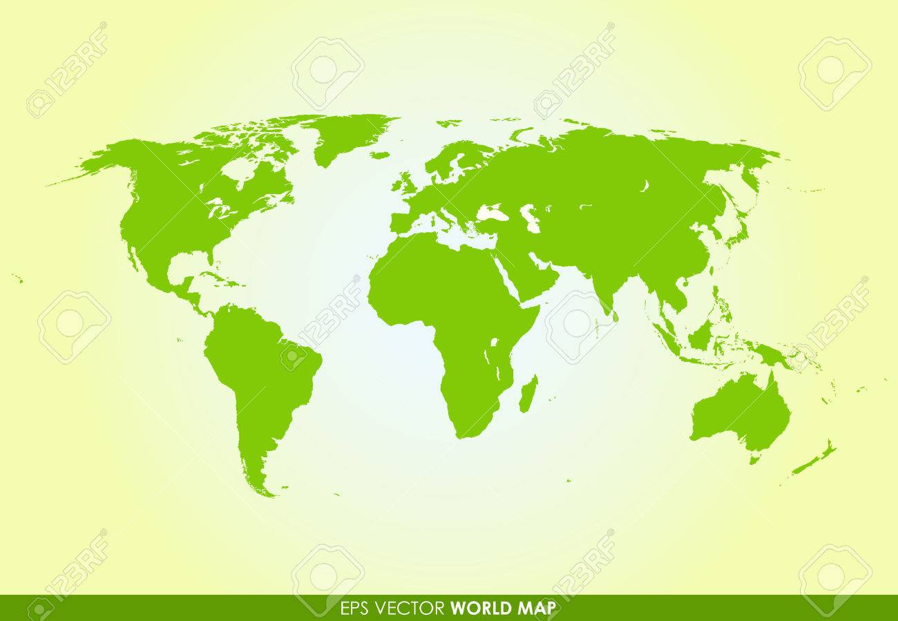Detailed world map in green color vector icon royalty free detailed world map in green color vector icon stock vector 31219732 gumiabroncs Images