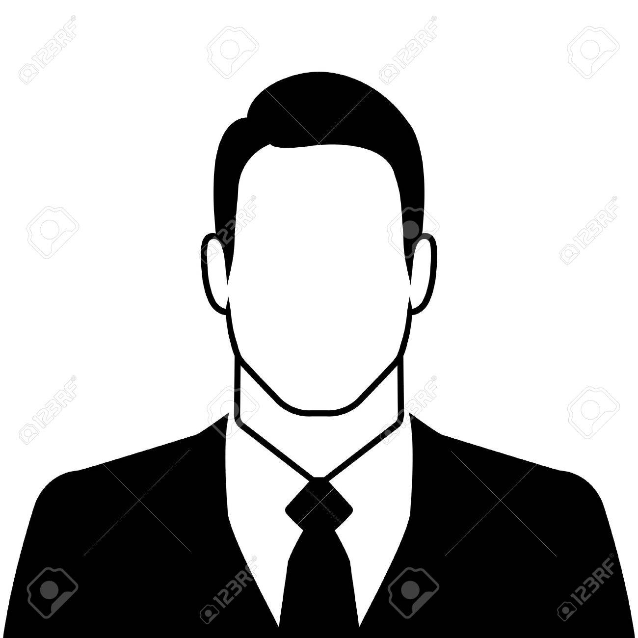businessman silhouette avatar profile picture on white background