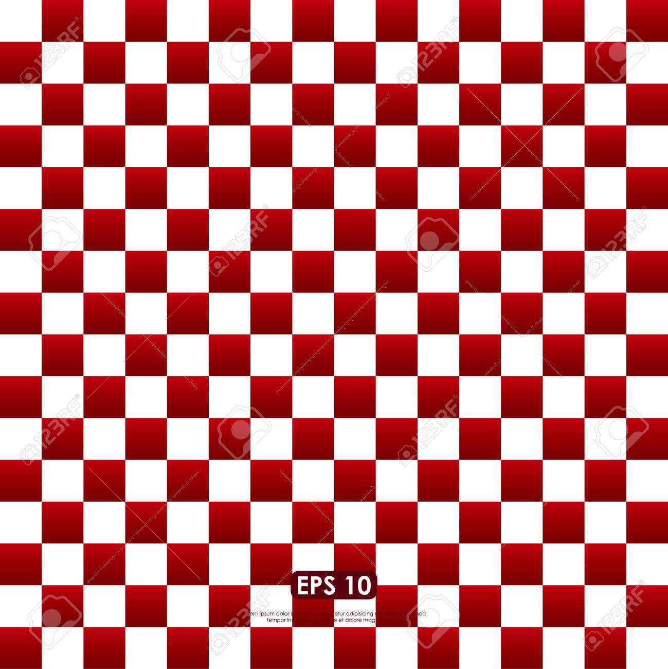 Checkered Design Red White Checkered Pattern Seamless Abstract Background