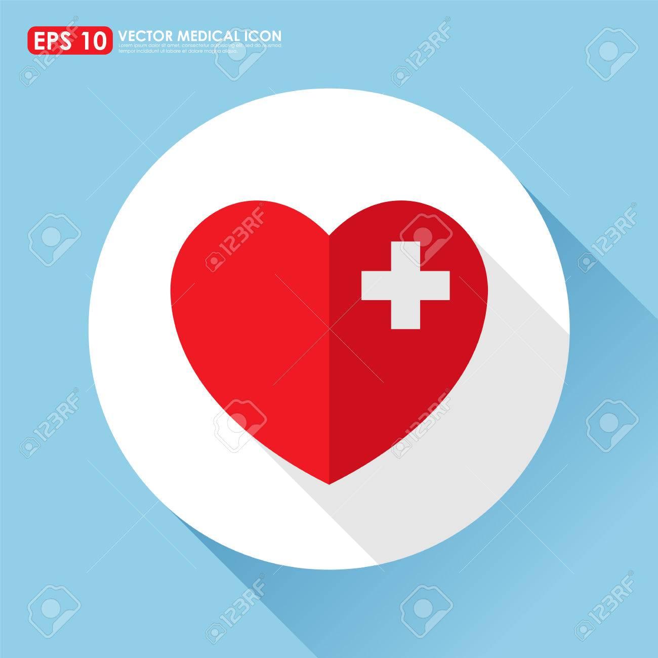Herz-Symbol Mit Erste-Hilfe-Zeichen - Herzkrankheit-Konzept ... | {Erste hilfe symbol 54}