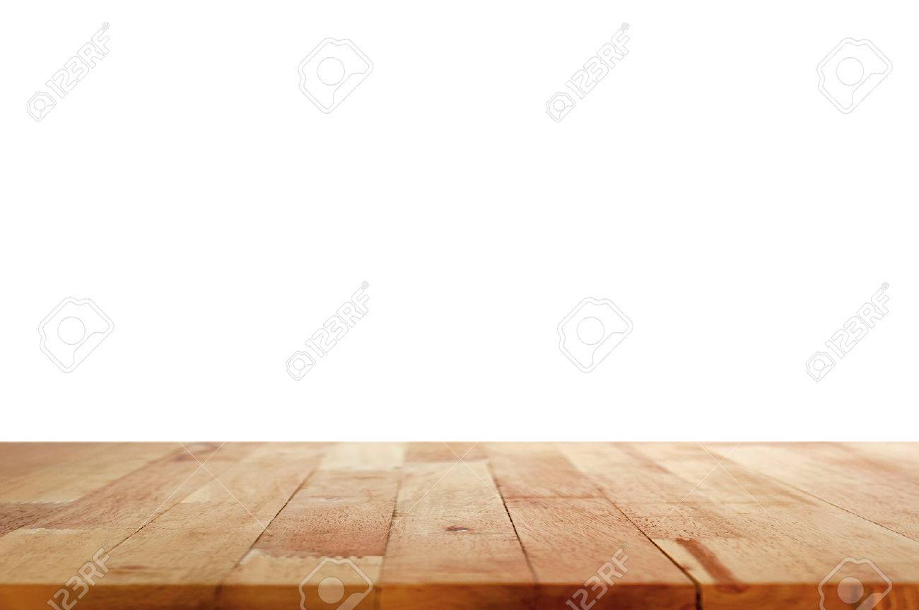 table top background. Stock Photo - Wood Table Top On White Background G
