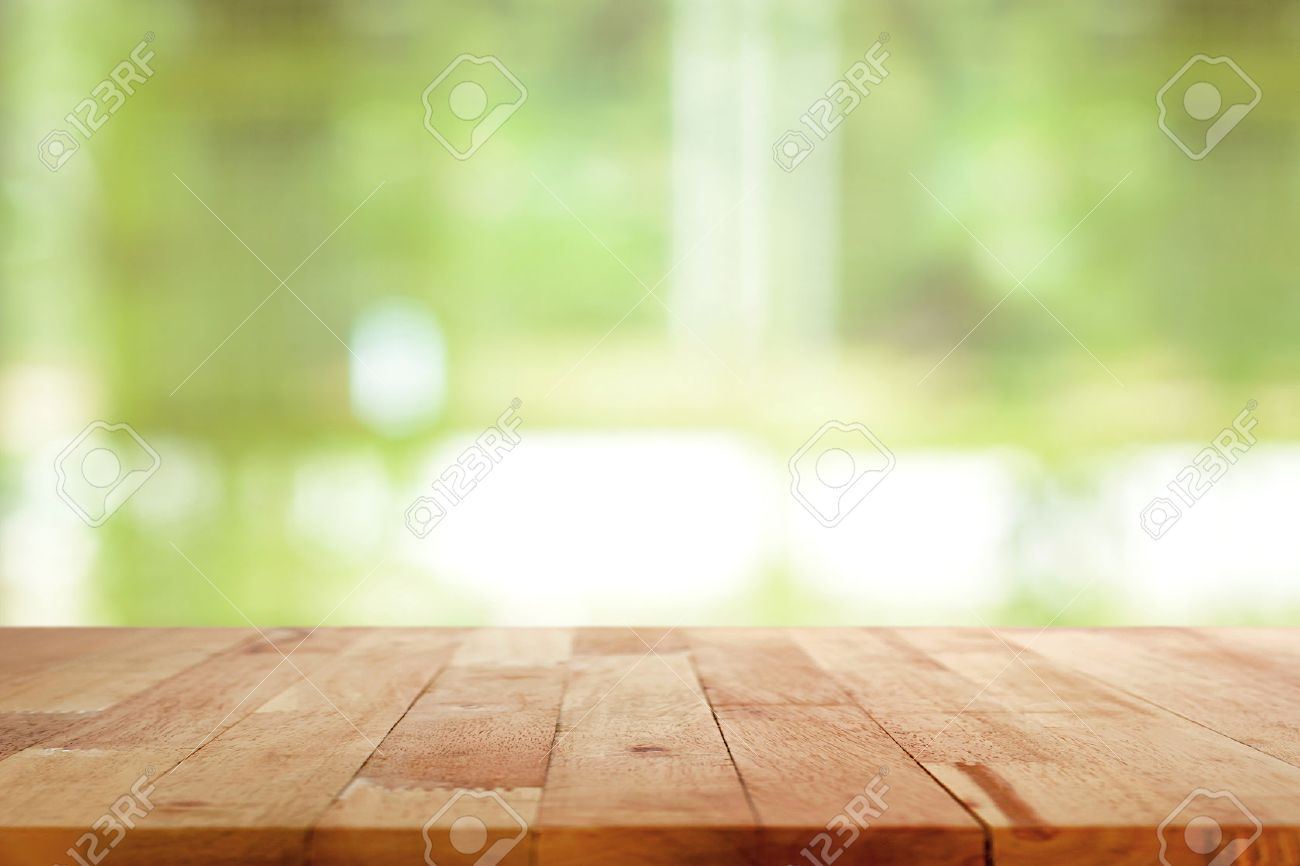 Background image table - Ipad On Table Wood Table Top On Blurred Green Background Can Be Used For