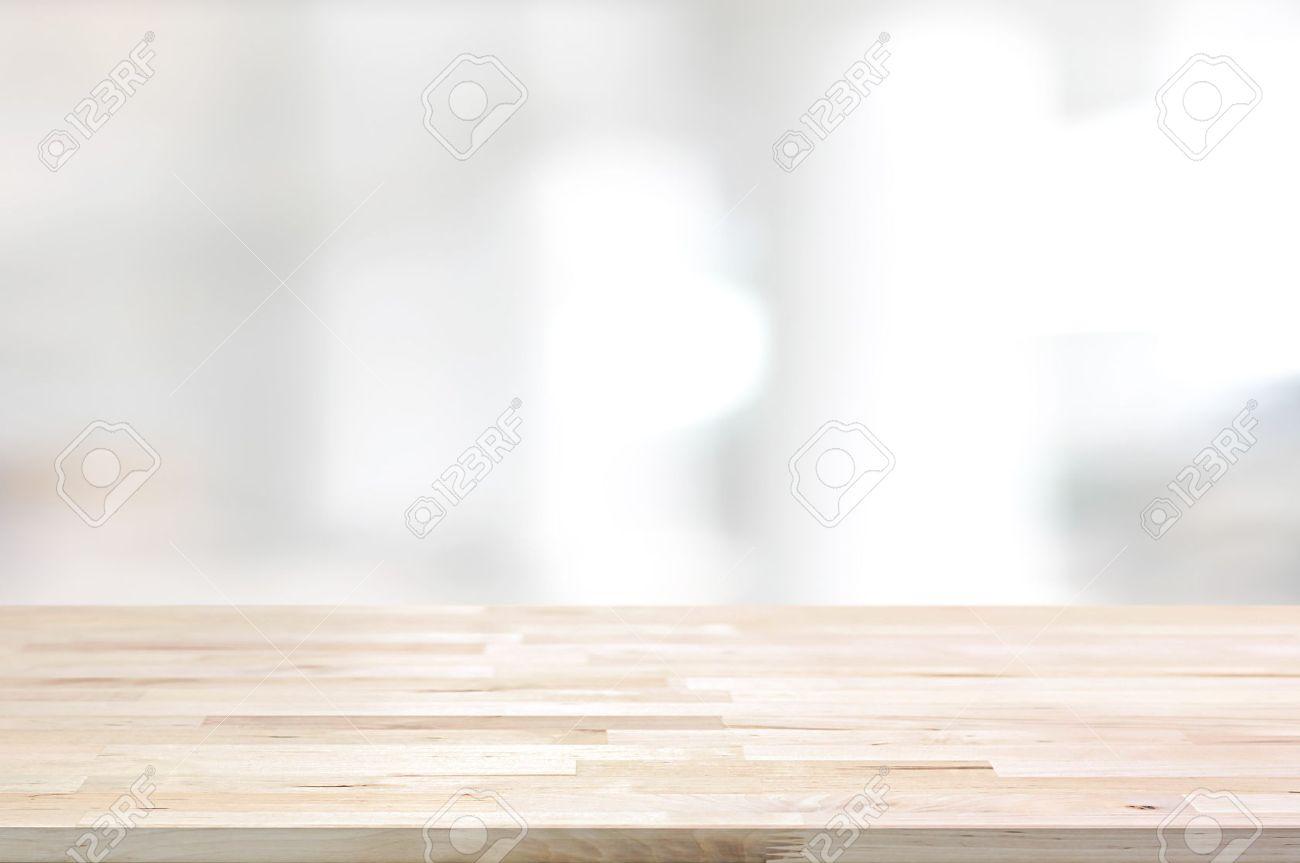 Immagini Stock Piano Del Tavolo In Legno Su Sfondo Bianco Astratto