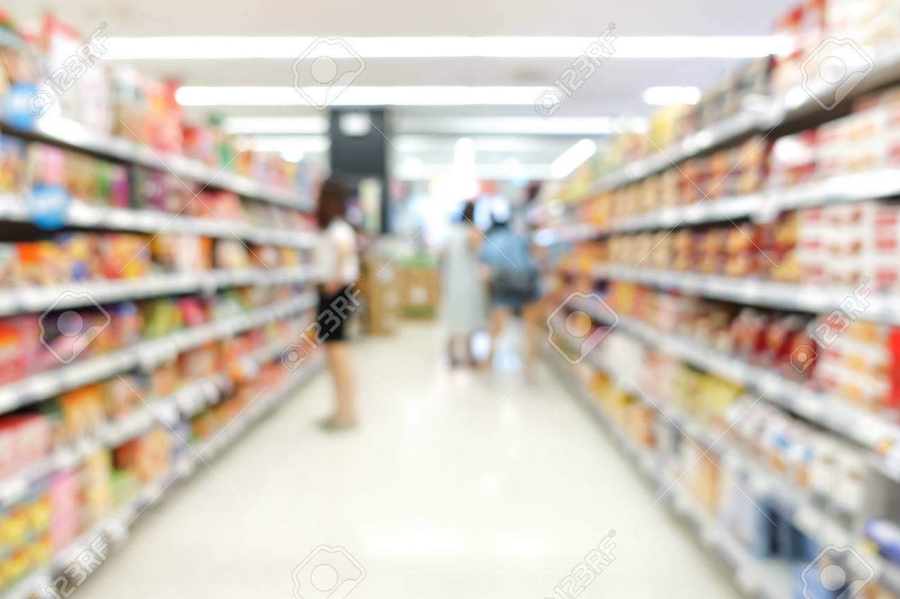 Blur Image Of Aisle In Supermarket With Customers For Background Stock Photo Picture And Royalty Free Image Image 51833537