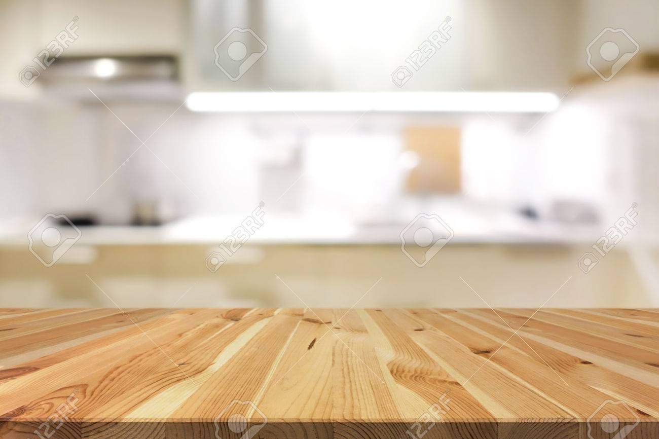 Kitchen Table Top Background Natural Pattern Wood Table Top Or Kitchen Island On Blur Kitchen
