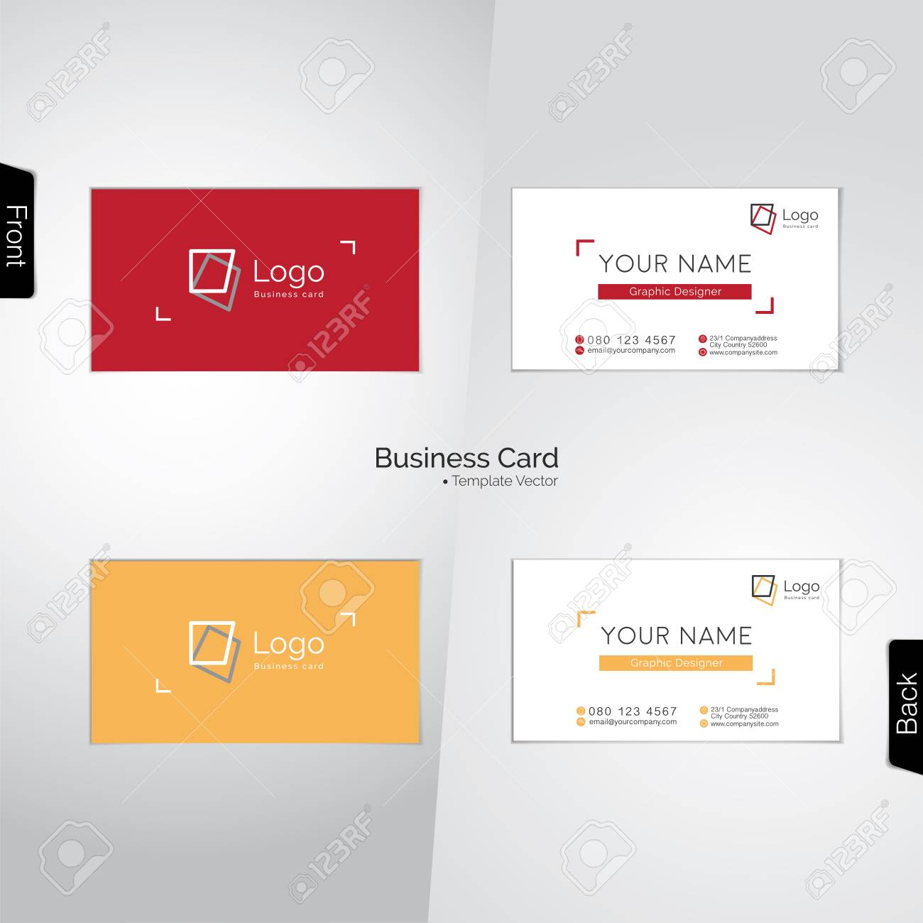 Photographer (and Graphic Designer) Colorful Business Cards Royalty ...