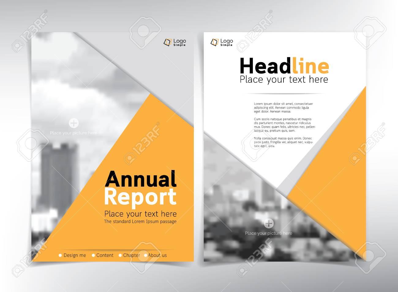 Moderne Business-Deckblatt, Vektor-Vorlage, Gelb Thema - Für ...