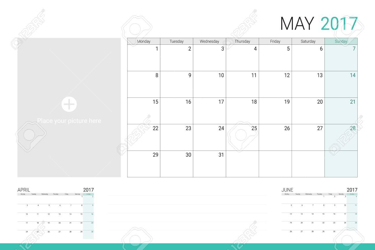 メモを取るための画像やライン スペース 17年 5 月カレンダーのイラスト素材 ベクタ Image