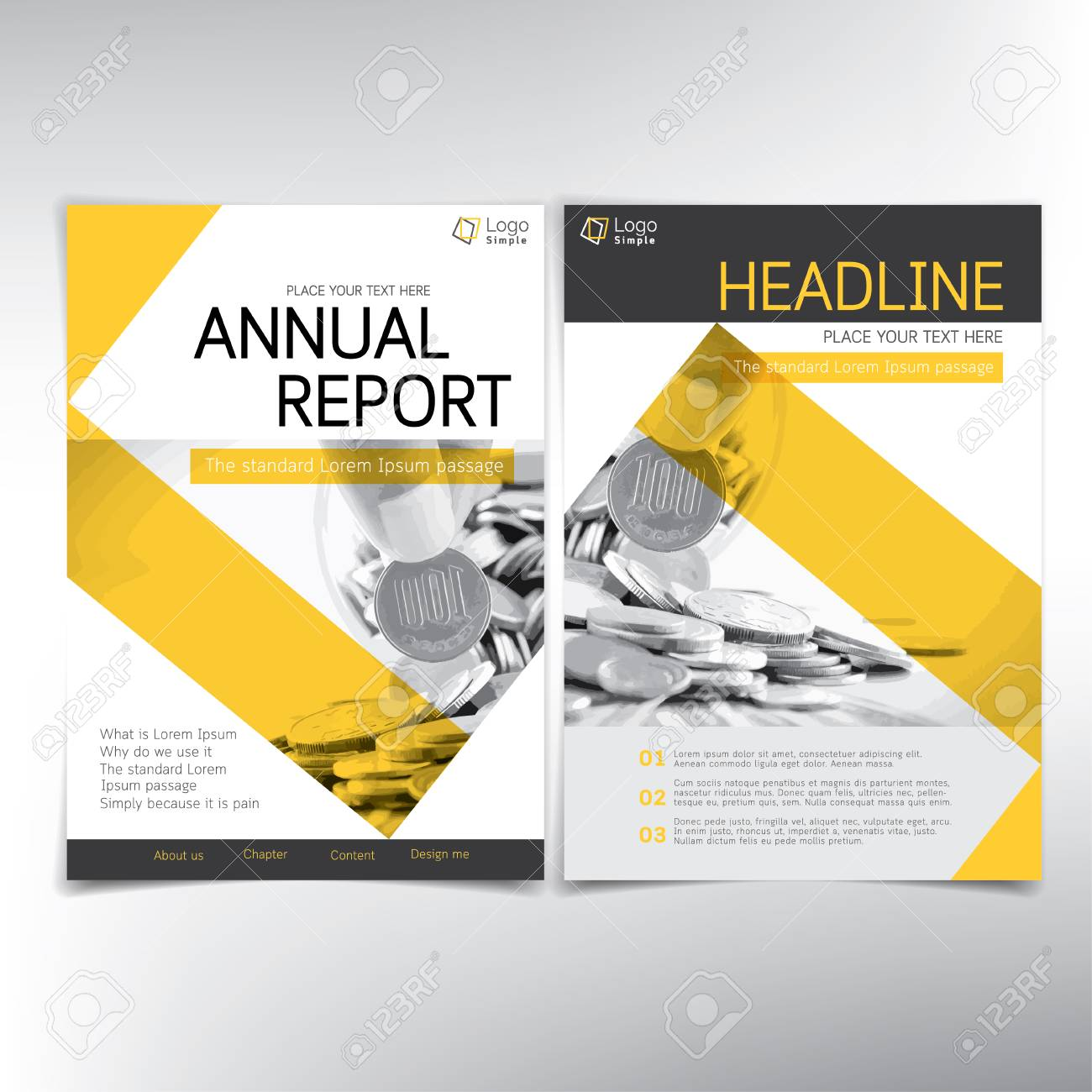 modern business and financial cover page vector template can be used for annual report