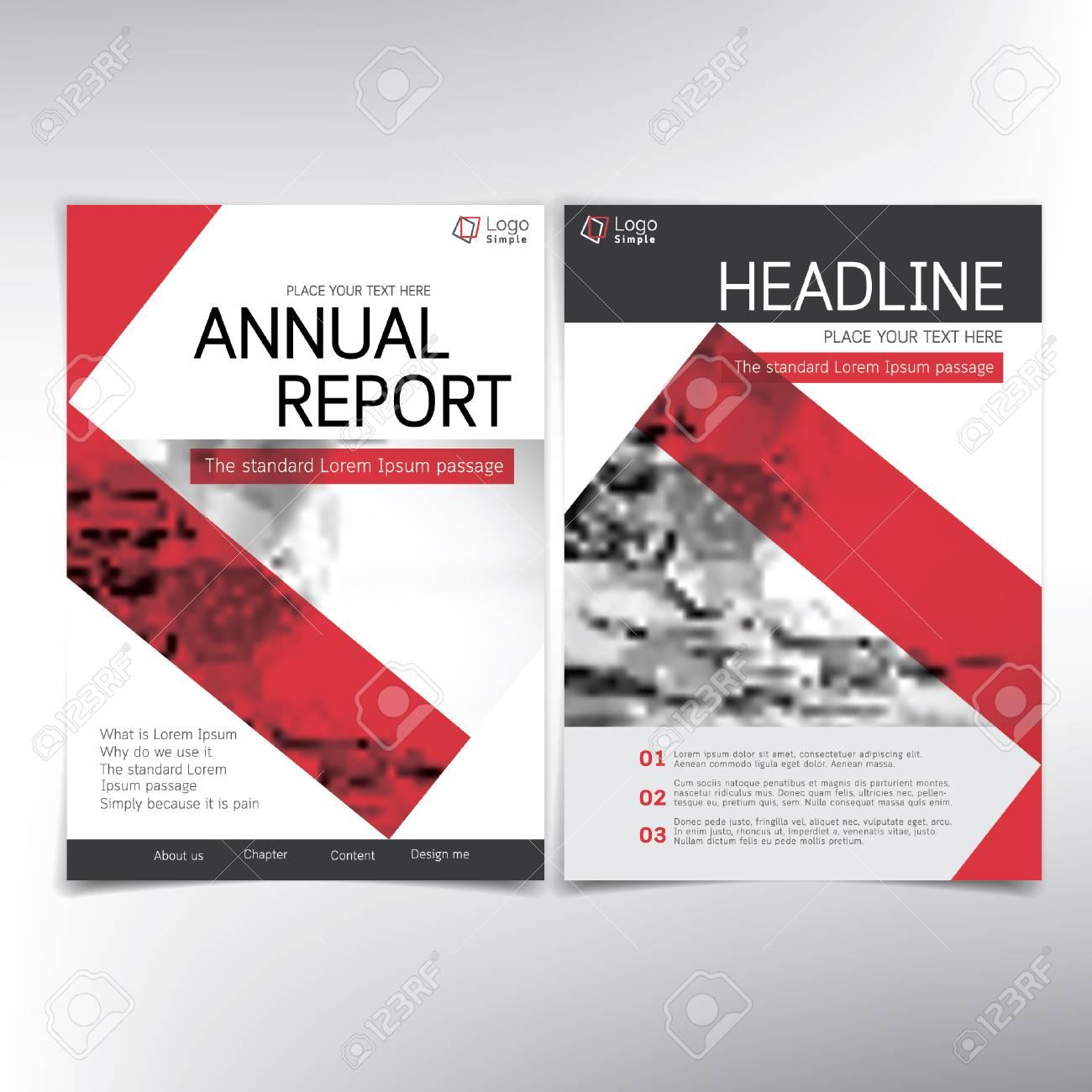 Moderne Business Deckblatt Vektor Vorlage Für Jahresbericht