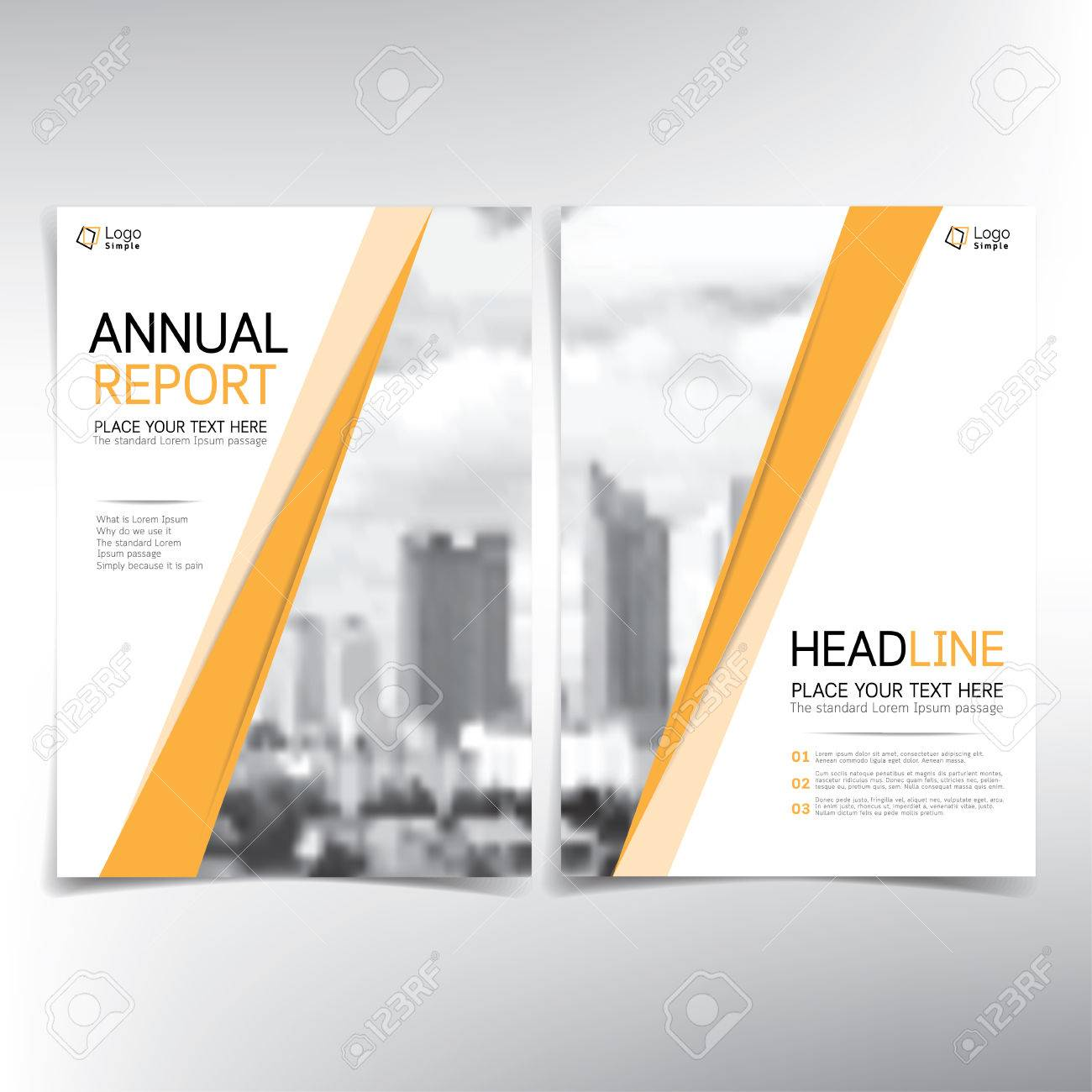 Page De Garde Moderne Modèle Vectoriel Concept Immobilier Peut être Utilisé Pour Le Rapport Annuel Flyer Brochure Dépliant Etc