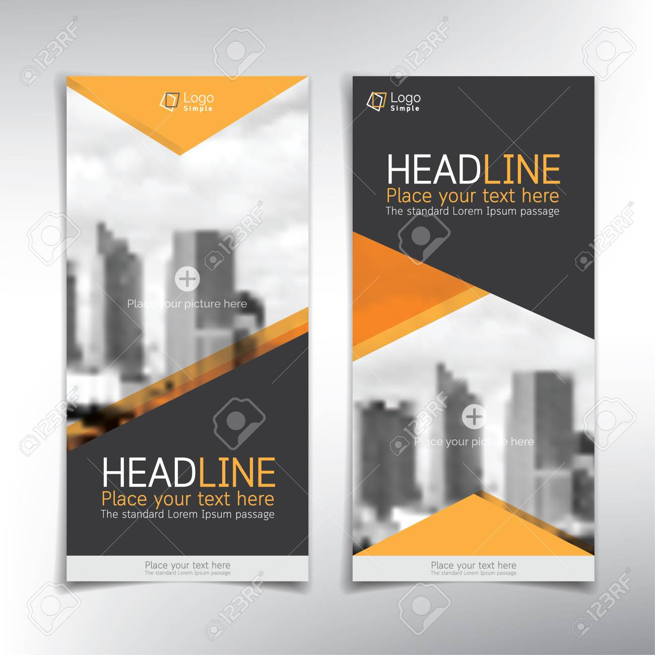 vertical banner vector template can be used for brochure flyer