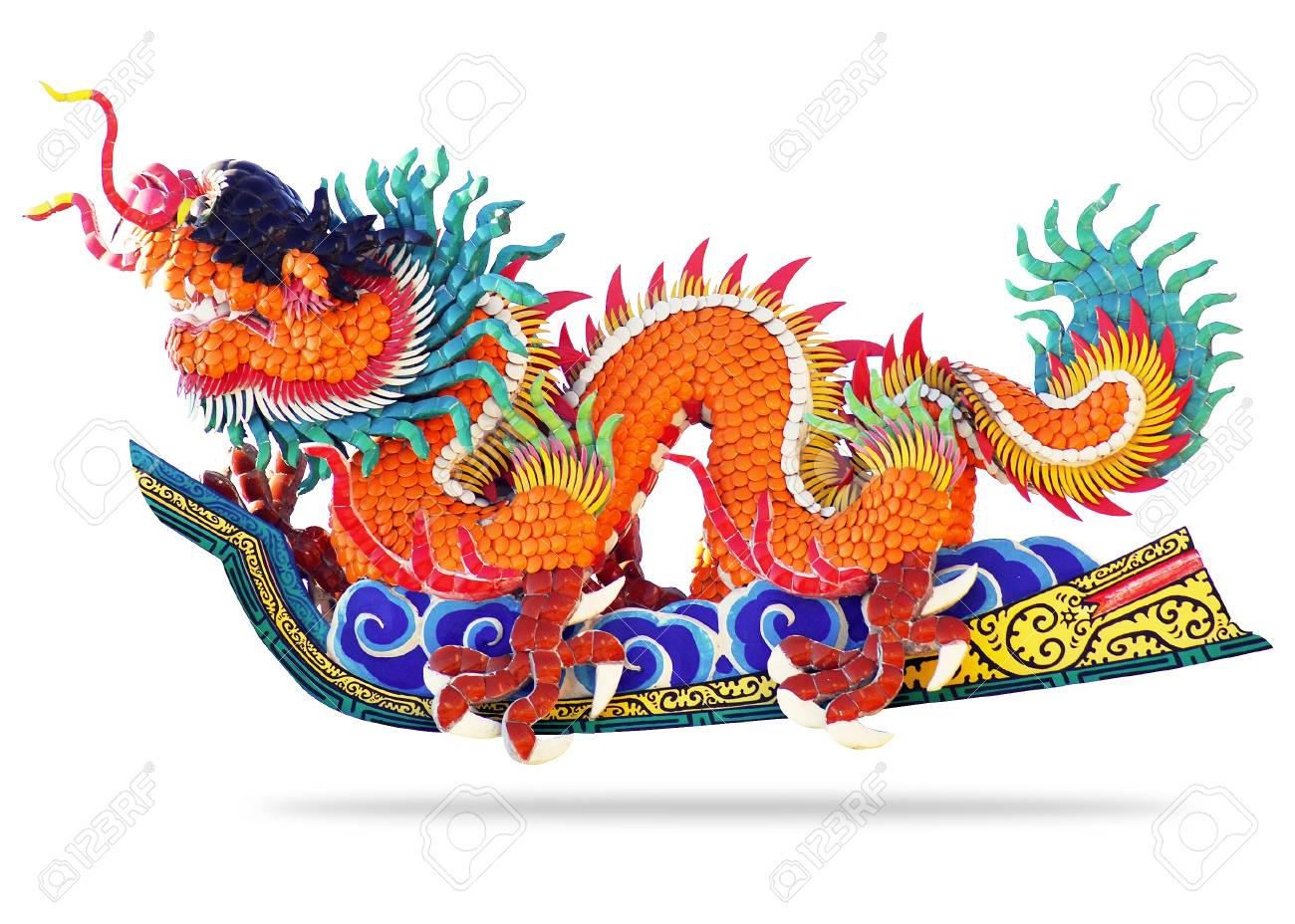 Chinese style dragon on white background Stock Photo - 11820114