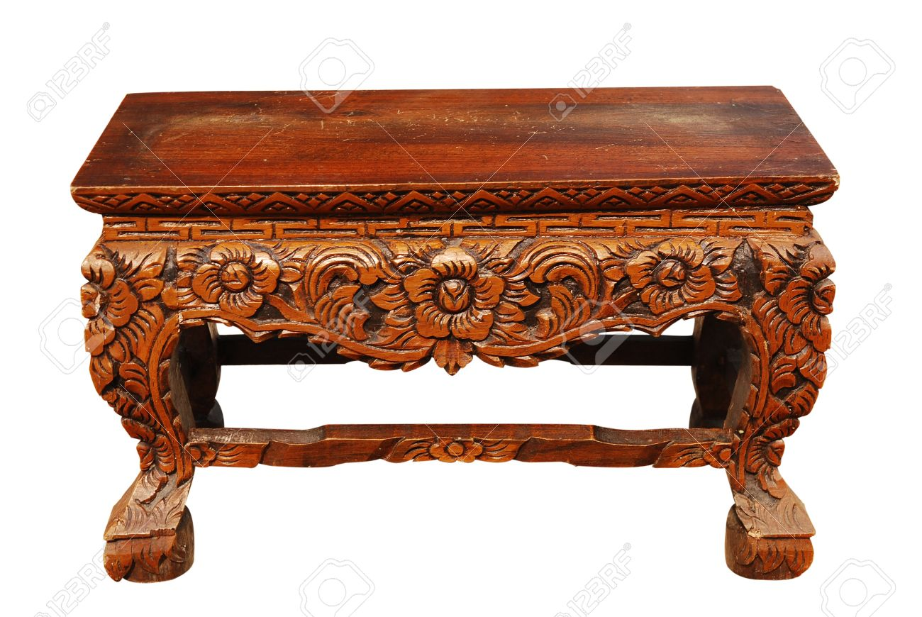 Carved wooden table Stock Photo - 15185613