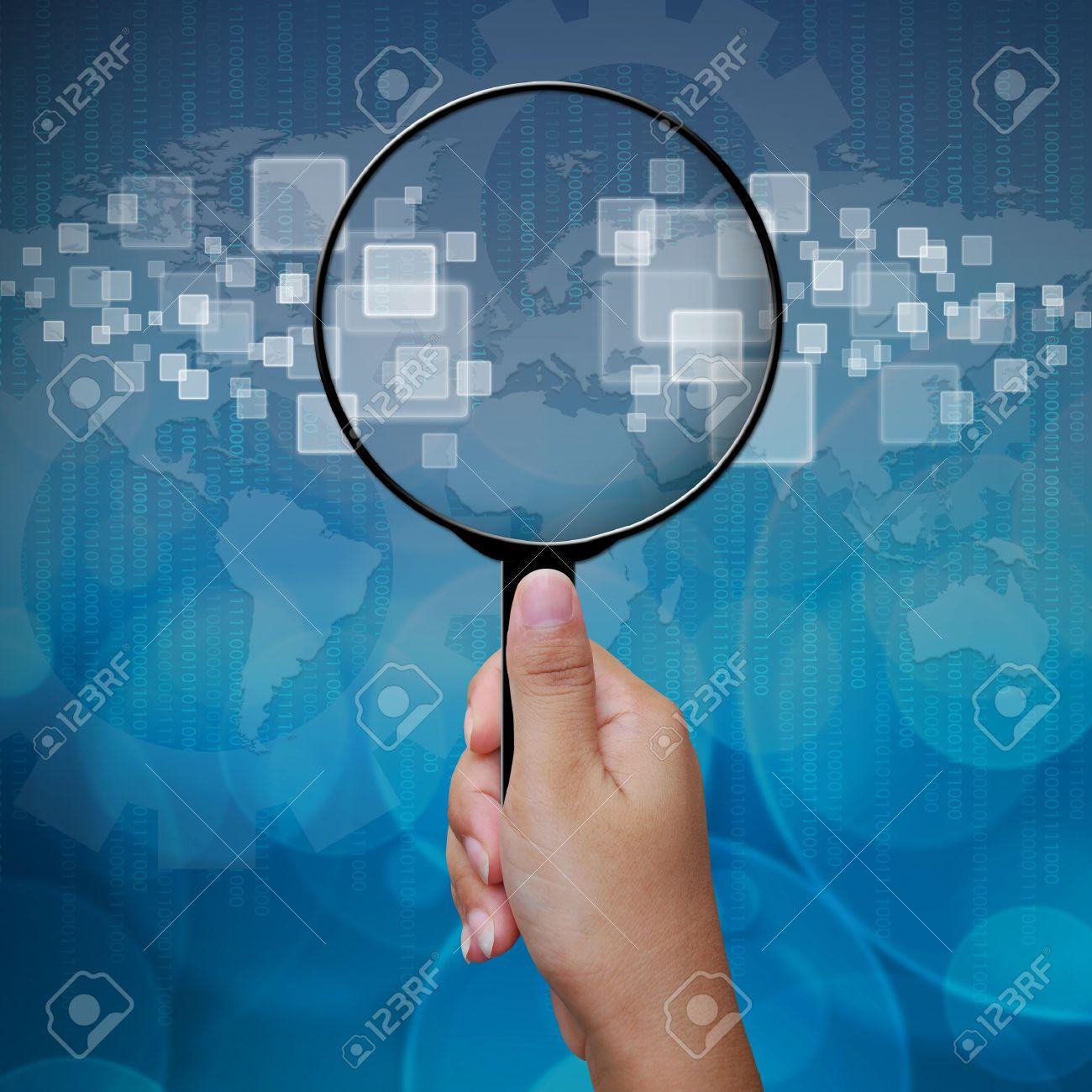 Blank en grossissant fond d'écran interface verre Banque d'images - 15053093