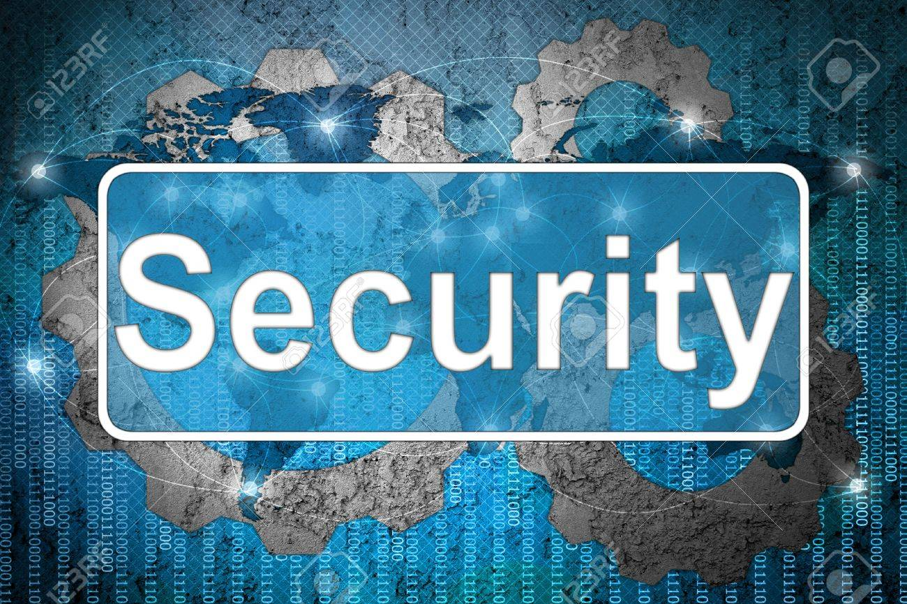 Word Security on network background Stock Photo - 15542699