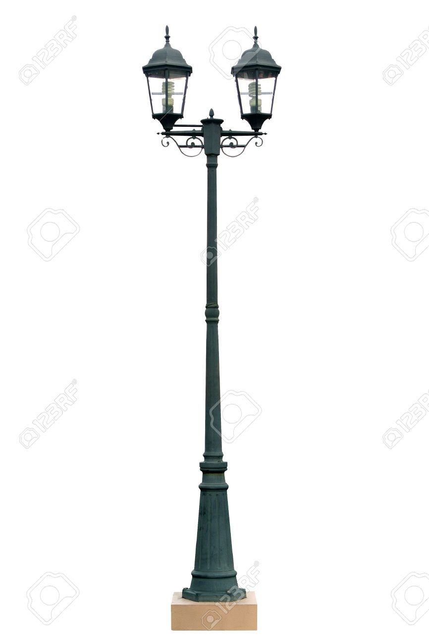 Lamp Post Lamppost Street Light Pole Rue isolé Banque d'images - 15780323