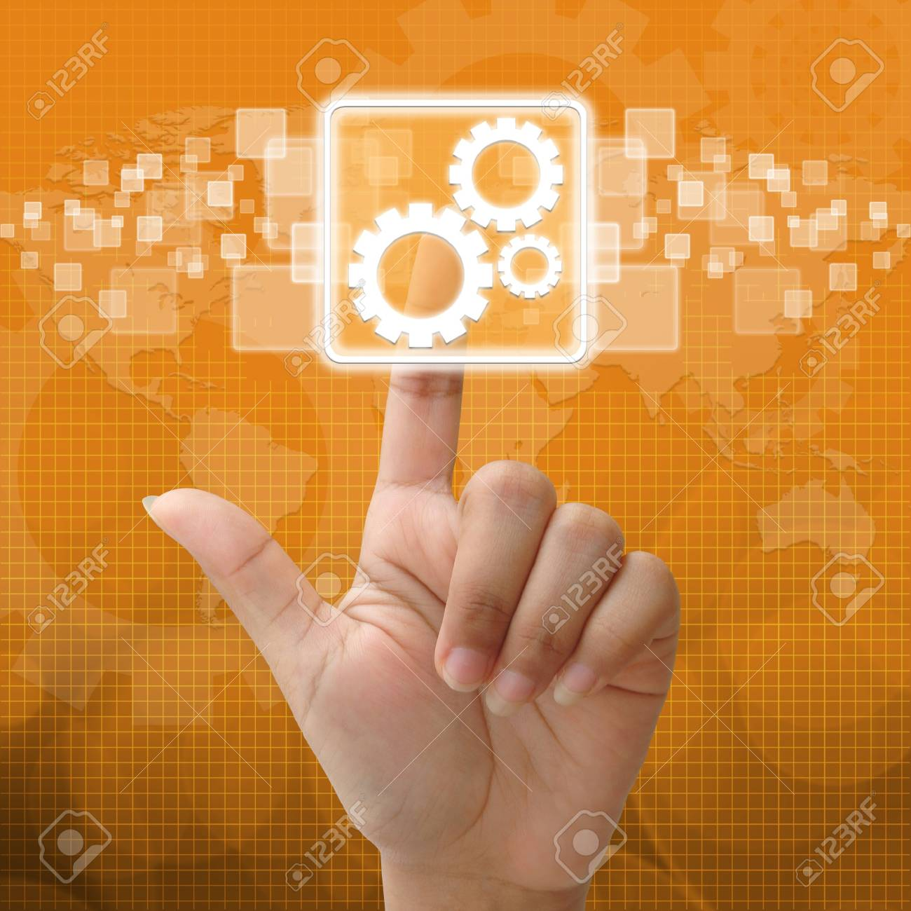 In press team work symbol for business concept Stock Photo - 15917090