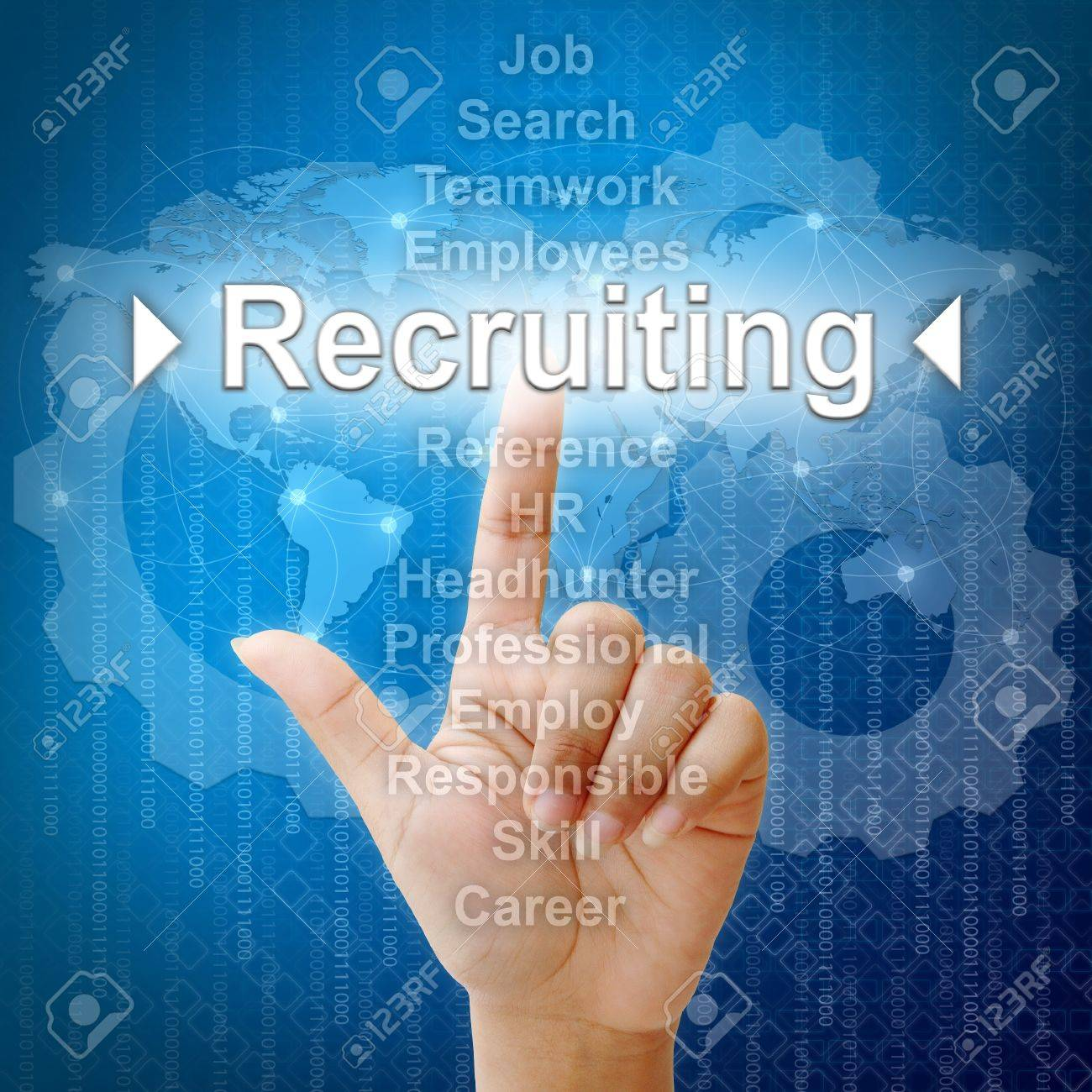 Recruiting,Business concept in word for Human resources Stock Photo - 16271161