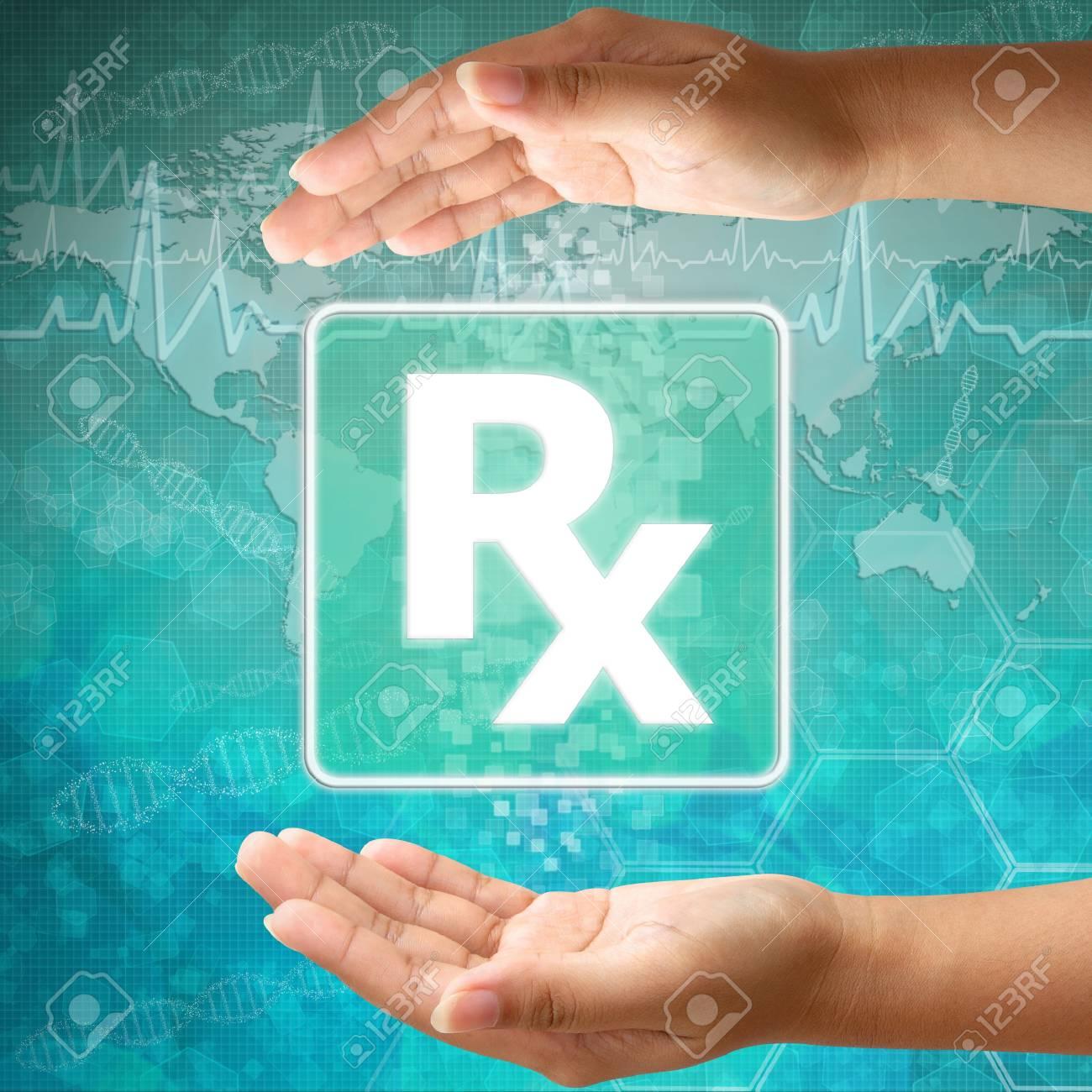 Medical icon Prescription in hand Stock Photo - 18122170