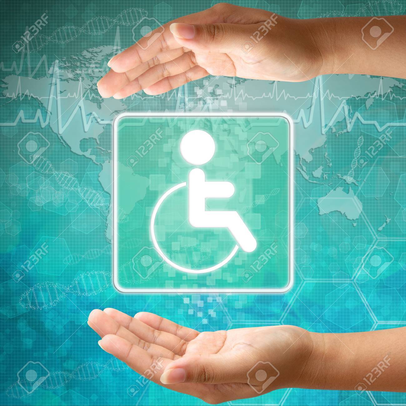 Medical icon Disabled in hand Stock Photo - 18122178