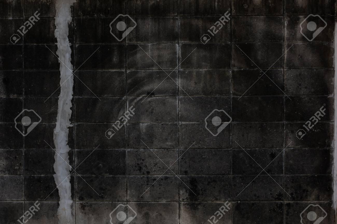 Alter Backsteinmauerhintergrund Grunge Textur Schwarze Tapete