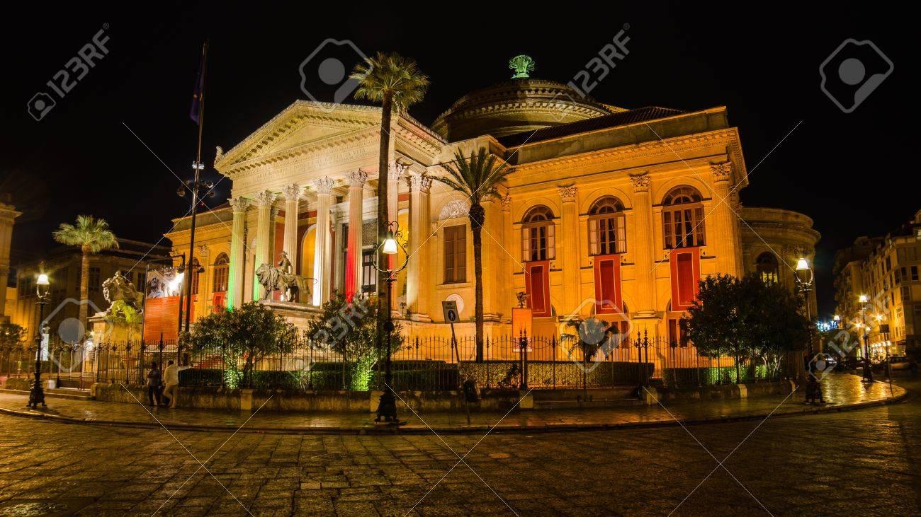 Teatro Massimo in Palermo, Sicily, Italy - 21711749