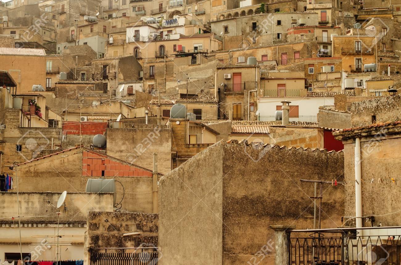Mountain town - Caltabellotta  Sicily, Italy Stock Photo - 21717997