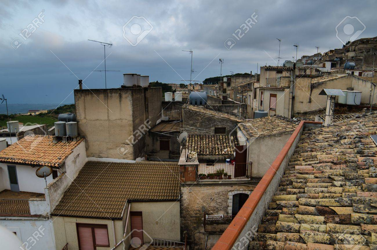 Mountain town - Caltabellotta  Sicily, Italy Stock Photo - 21718005