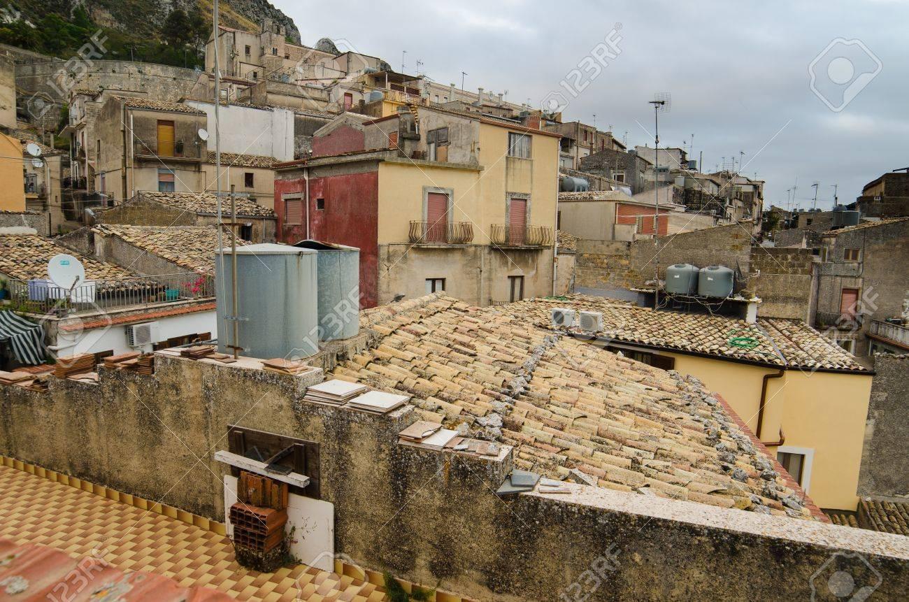 Mountain town - Caltabellotta  Sicily, Italy Stock Photo - 21718009