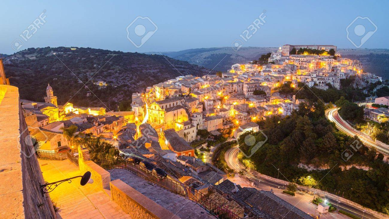 Ragusa Ibla Sicily, Italy in the evening - 21718264