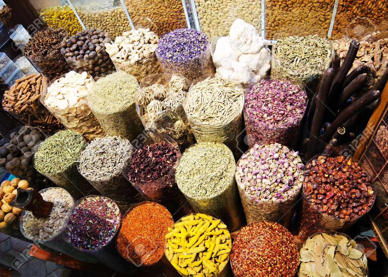 Spices in bazaar of Dubai, United Arab Emirates - 26406509