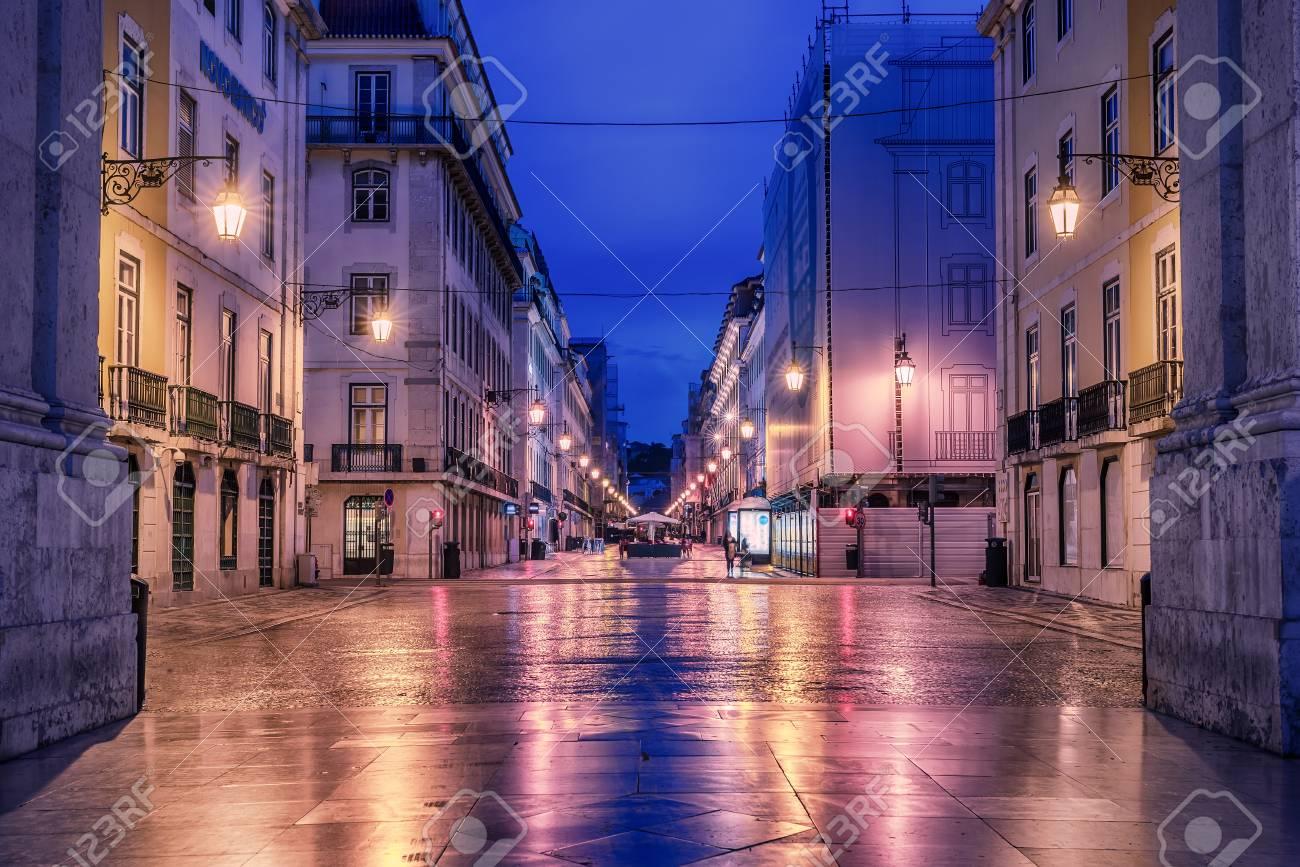 Lisbon, Portugal: Rua de Augusta, Augusta street - 80522490