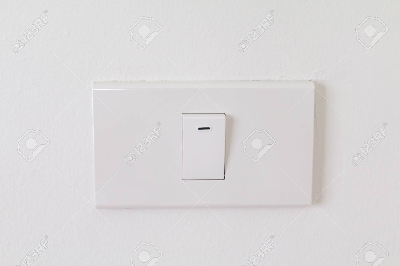 Electronic Switches With White Background, White Switches On.. Stock ...