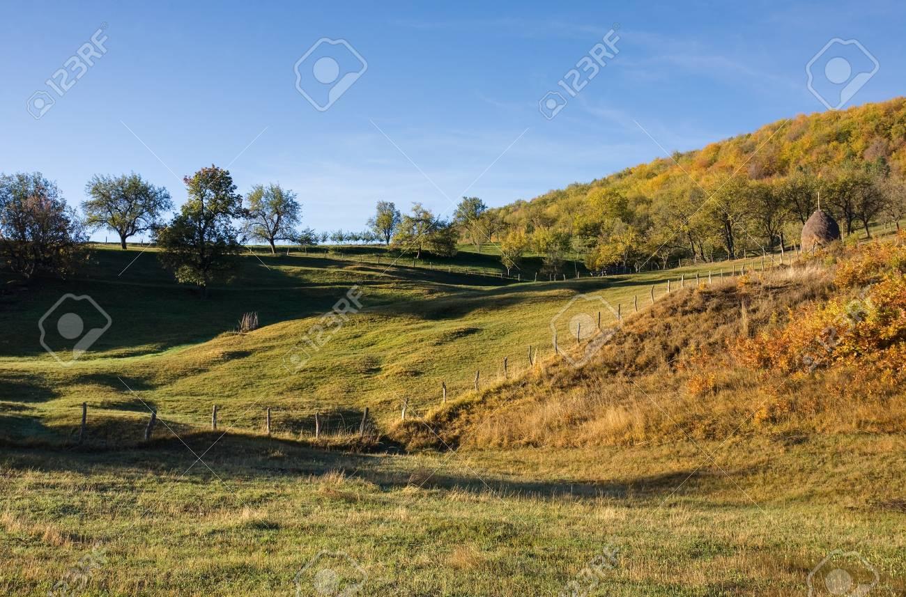 Moring autumn mountain Stock Photo - 16380687