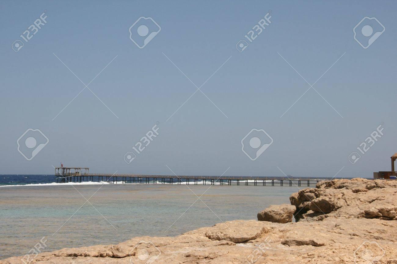 Pontoon on the beach Stock Photo - 10410238